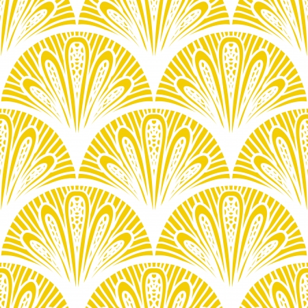 Art deco geometric pattern in bright yellow