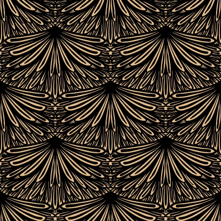bohemian: Art deco geometric pattern in brown color Illustration