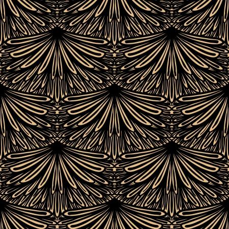 artdeco: Art deco patr�n geom�trico en color marr�n