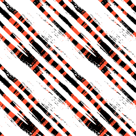 Multicolor striped pattern with diagonal brushed lines.  Vector
