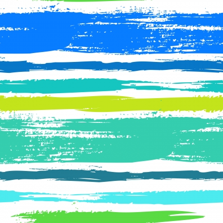 stripes: Multicolor striped pattern with horizontal brushed lines in tropical blue green.