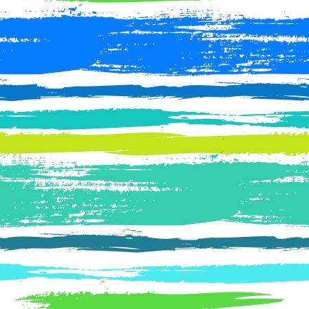 Multicolore rayé modèle avec des lignes horizontales brossé en vert bleu tropical. Banque d'images - 25187442