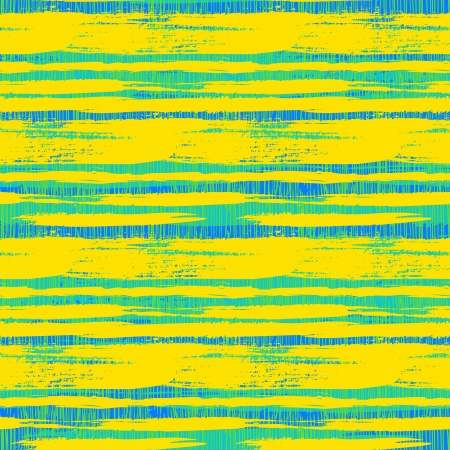 Vintage striped pattern with crossing brushed lines in bright green yellow blue color.