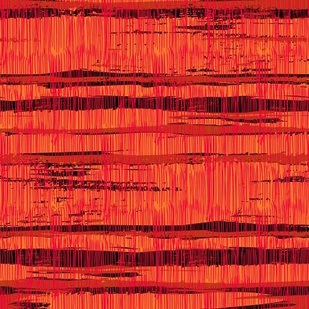 Uitstekende gestreepte patroon met kruising geborsteld lijnen in felle rode kleuren. Stock Illustratie