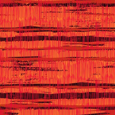 Vintage striped pattern with crossing brushed lines in bright red colors.