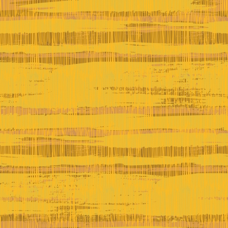 Vintage striped pattern with crossing brushed lines in organic yellow brown colors.