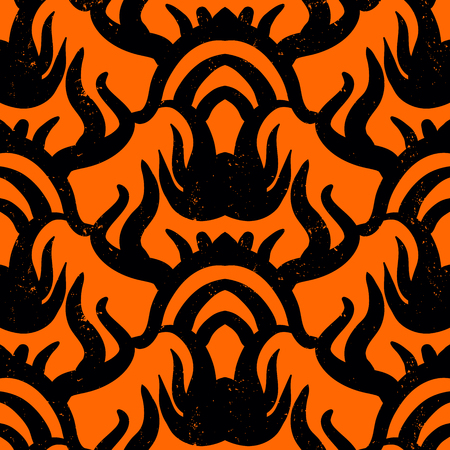 Ethnic vector seamless pattern with tribal motifs.  Vettoriali