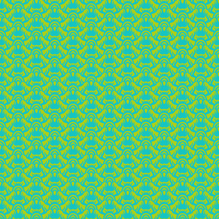 Ethnic vector seamless pattern in tropical green. Texture for web, print, home decor, textile, paper, wallpaper, card background, spring summer fashion fabric, Thai or Indian restaurant menu decor Vector