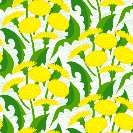 Vector seamless floral pattern with dandelion flowers on white.  Stock Vector - 25188112