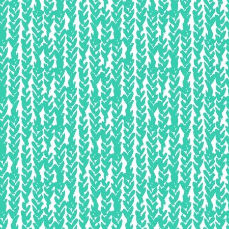 手の手で描かれたパターンお下げ青色で描かれています。ベクトル シームレス テクスチャの web、印刷、家の装飾、包装紙、壁紙、招待カード背景