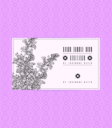 Vector vintage card with lilac on luxury pink background. Template for spa promotion, flower shop gift card, soap package, spring sale coupon, perfume box design, business card, wedding invitation