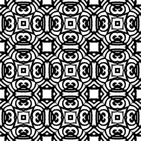 Vintage vector art deco pattern in black and white. Seamless texture for web; print; wallpaper; wedding invitation or website background; spring, summer or fall fashion; fabric or textile Vector