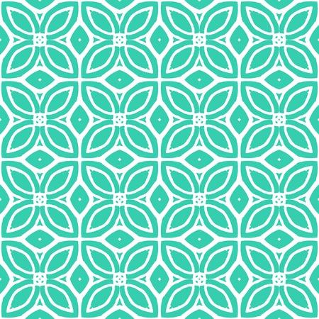 ビンテージ ベクトル アールデコ パターン熱帯の青と白の色で 1970 年代をモチーフにしました。シームレスなテクスチャを印刷;壁紙;結婚式招待状ま  イラスト・ベクター素材