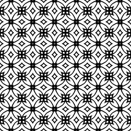 wintermode: Vector geometrischen Art-Deco-Muster mit Schn�rung Formen in schwarz und wei�. Luxus-Textur f�r Print, Website Hintergrund, Dekor 1930 Stil, Geschenkpapier, fallen Wintermode. Textil-, Gewebe