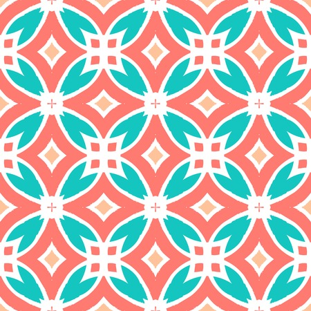 Vector multicolor ethnic pattern with Kazakh, Moroccan and Turkish motifs. Texture for web, print, wallpaper, home decor, fall summer fashion, website or oriental restaurant menu background Vector