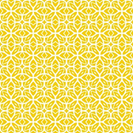 amarillo: Vector patrón geométrico art deco con cordón formas en amarillo y blanco. Textura de lujo en la impresión, la web de fondo, decoración de estilo 1930, papel de embalaje, la moda primavera verano. textil, tela