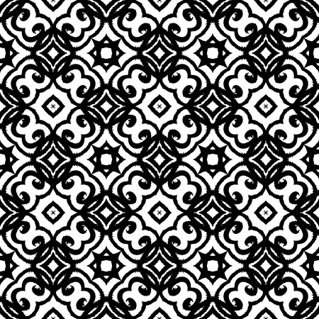 Vector geometric art deco pattern with lacing shapes in black and white. Luxury texture for print, website background, decor in 1930 style, wrapping paper, spring summer fashion. textile, fabric Stock Vector - 26741105