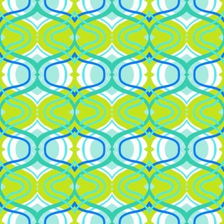 Ethnic pattern in bright green color with Arabic, Turkish, Moroccan motifs. Seamless vector background for web, print, spring summer fashion, wallpaper, fabric, textile design, birthday wrapping paper
