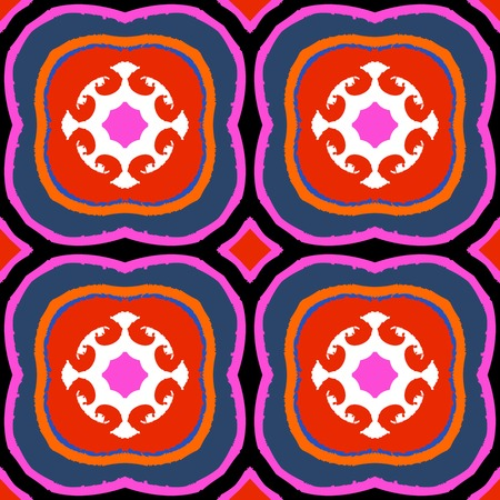 Vector multicolor ethnic pattern with Kazakh, Moroccan and Turkish motifs. Vector