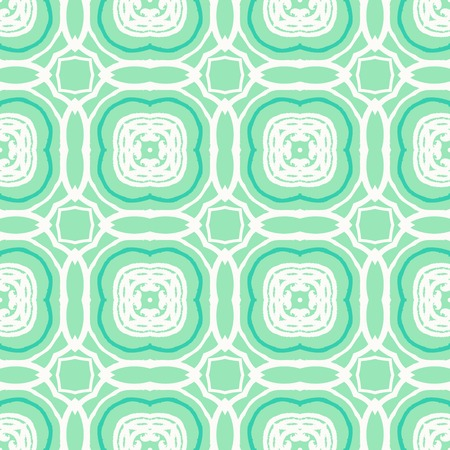 architectural styles: Vector geometric art deco pattern with white shapes on green. Illustration