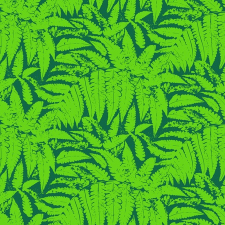 fern: Seamless floral pattern inspired by leaves of tropical plants and nature