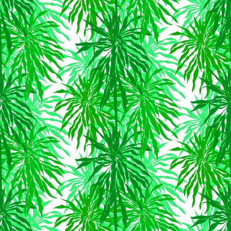 rainforest background: Seamless floral pattern inspired by leaves of tropical plants and nature