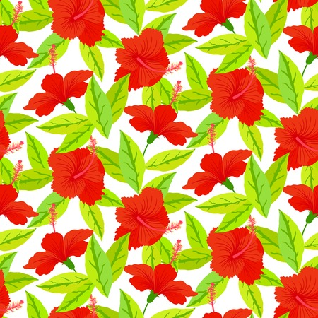plumeria flower: Seamless floral pattern inspired by leaves of tropical plants and nature