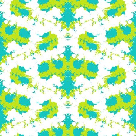 pinceladas: Vector sin patr�n en negrilla con pinceladas amplias y rayas ondeando en verde lima brillante, aqua colores azul y blanco