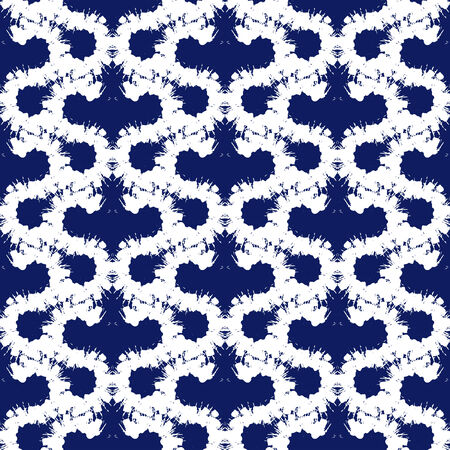 brushstrokes: Vector seamless bold pattern with wide brushstrokes and stripes in navy blue and white colors