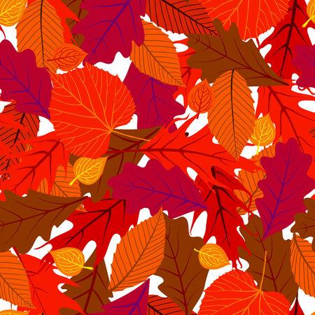 秋のシームレスな背景  イラスト・ベクター素材