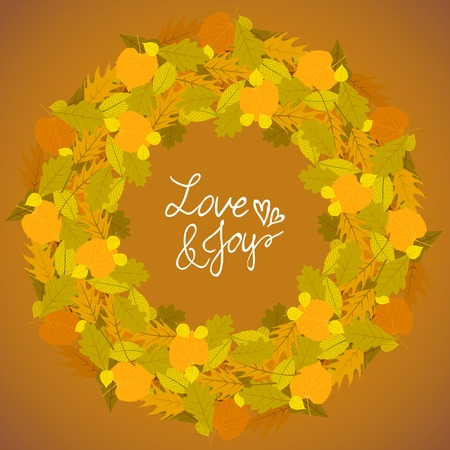 ash tree: Vector background with autumn decor