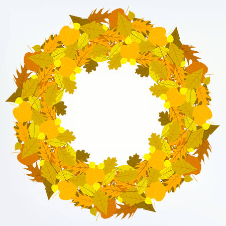 Vector background with autumn decor Vector