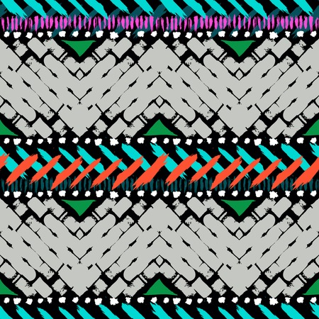 Grunge hand painted seamless pattern Illustration