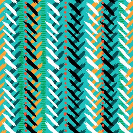 シェブロンの手描きのシームレスなパターン