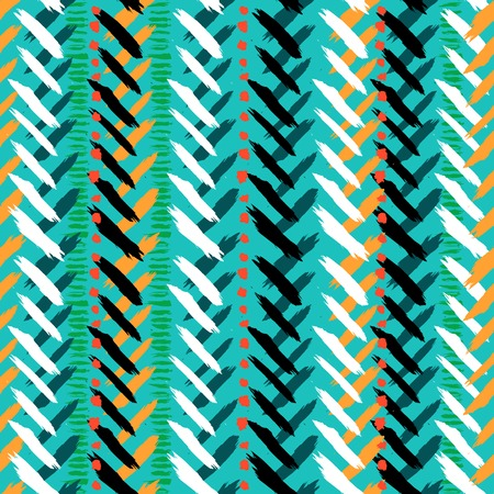Chevron hand painted seamless pattern