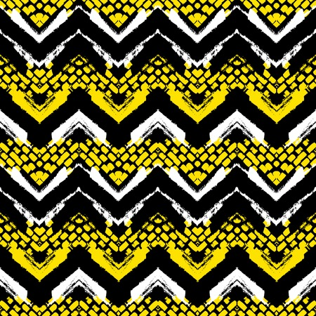 Chevron hand painted vector seamless pattern Vector