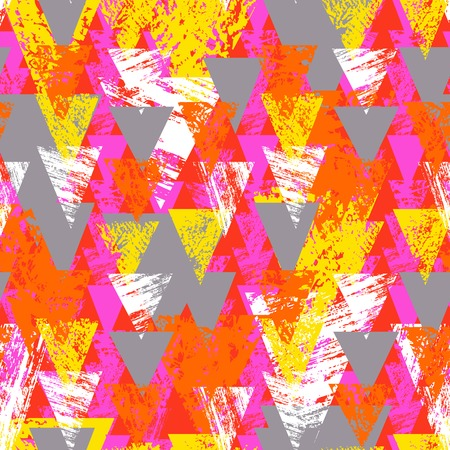 hand print: Hand painted bold pattern with triangles
