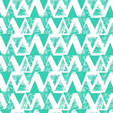 bold: Hand painted bold pattern with triangles