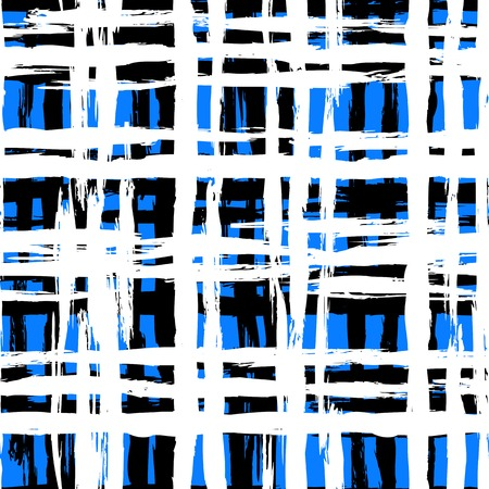 paint strokes: Hand painted plaid pattern Illustration