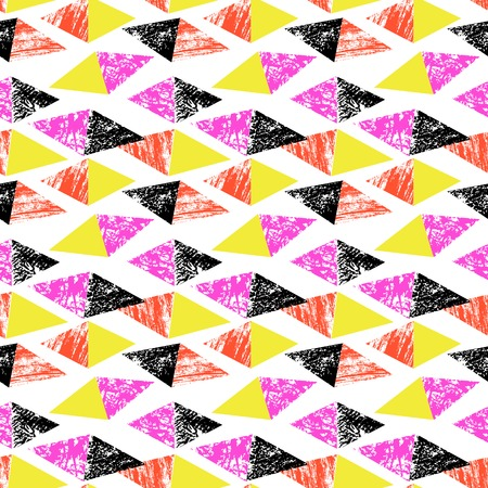 rhomb: Grunge hand painted pattern with triangles