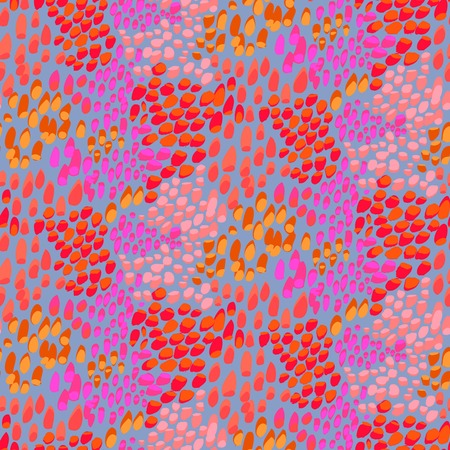 Animal pattern inspired by tropical fish skin Illustration