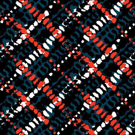 Vector seamless grunge plaid pattern Иллюстрация