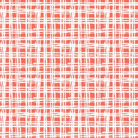 Vintage gestreept patroon met geborsteld lijnen Stock Illustratie