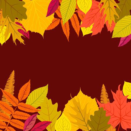 card with autumn decor Illustration