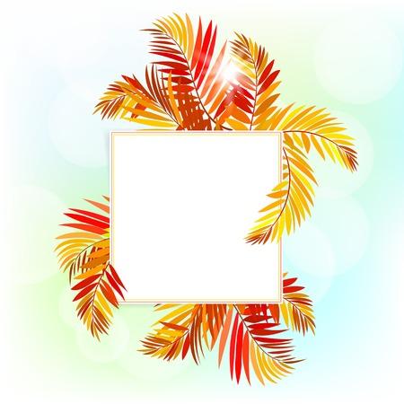 garden party: card with autumn decor Illustration
