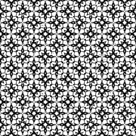 mexican black: Seamless geometric pattern in modern hipster style