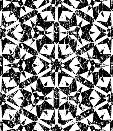 Seamless geometric pattern in modern hipster style