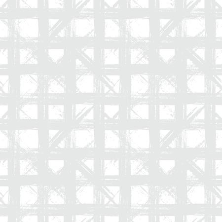 White plaid pattern with hand drawn stripes Çizim
