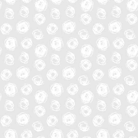 Hand drawn seamless texture with brushed dots