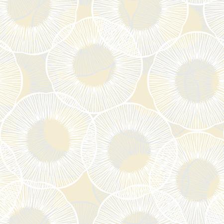 boho: Hand drawn seamless texture with circles